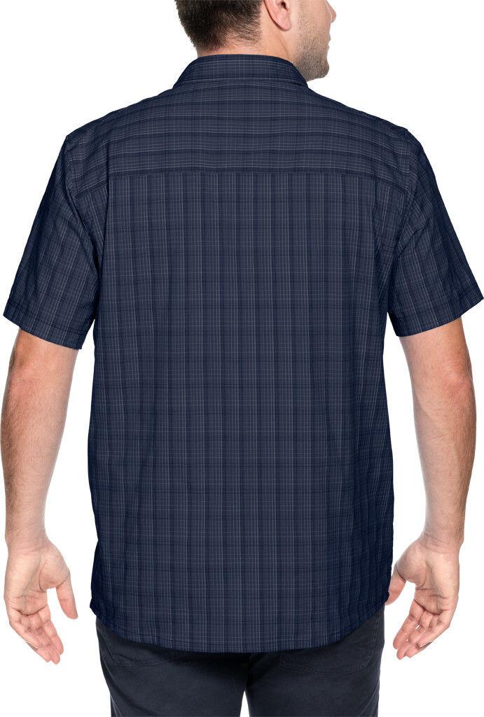3a9432188fc Jack Wolfskin Rays Stretch Vent Shortsleeve Shirt Men blue at ...